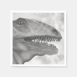 Scary Dinosaur Disposable Serviette