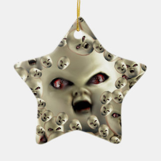scary doll-face products dark art christmas ornament
