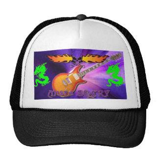 Scary Evil Deadly Skull Guitar Baseball Hat Custom