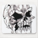 Scary Evil Deadly Skull Mousepad