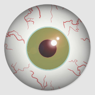 Scary Eyeball Eye Ball Halloween Round Sticker
