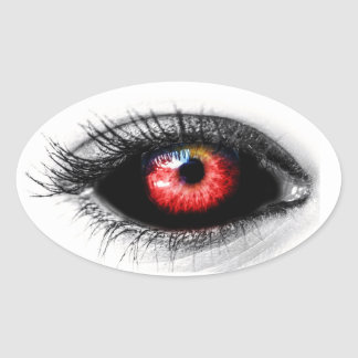 Scary Eyeball Halloween Spooky Sticker
