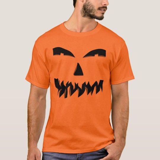 Scary Face Jack-O-Lantern Halloween Costume T-Shirt