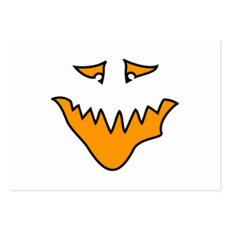 Scary Face. Monster Grin in Orange. Business Cards