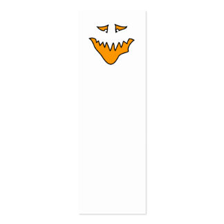 Scary Face. Monster Grin in Orange. Business Card
