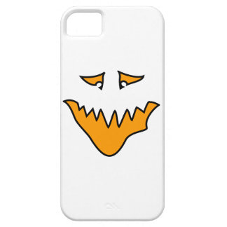 Scary Face. Monster Grin in Orange on White Barely There iPhone 5 Case