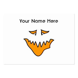 Scary Face. Monster Grin in Orange. Pack Of Chubby Business Cards