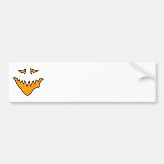 Scary Face. Orange Monster . Bumper Sticker