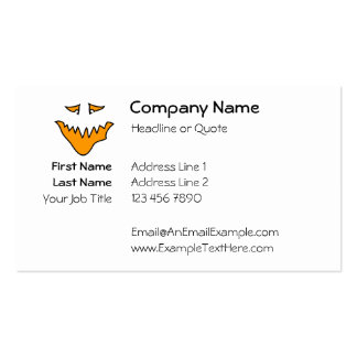 Scary Face. Orange Monster Grin. Pack Of Standard Business Cards