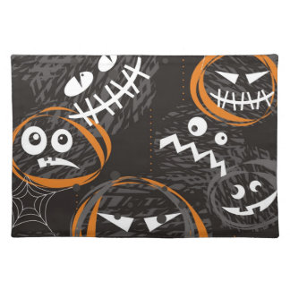 scary faces placemat