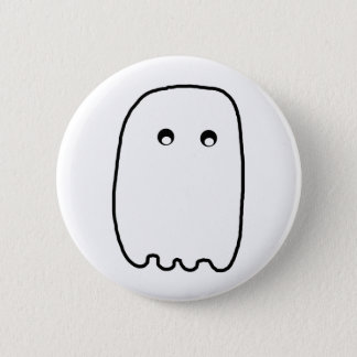 Scary Ghost 6 Cm Round Badge