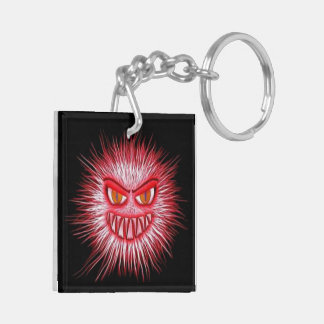 Scary Gory Ghoulish Key-chain Double-Sided Square Acrylic Key Ring