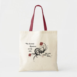 Scary Gothic Edgar Allen Poe Quote Tote Bag