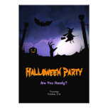 Scary Graveyard - Pumpkin Witch Halloween Party Personalized Invitations