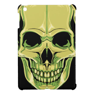 Scary Grinning Green Skull iPad Mini Covers