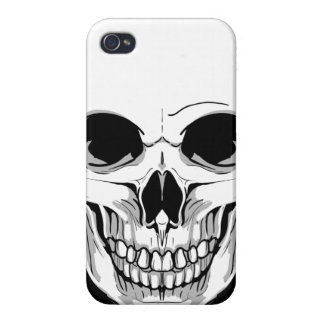 Scary Grinning Skull Cases For iPhone 4