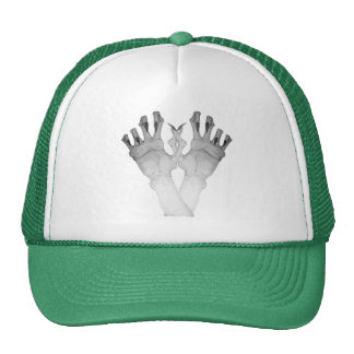 Scary gruesome monster hand with long nails art trucker hats