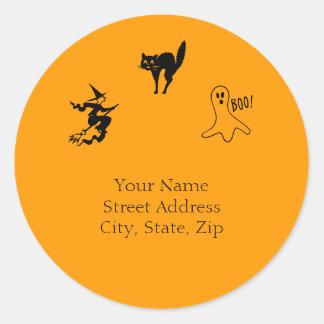Scary Halloween Address Sticker