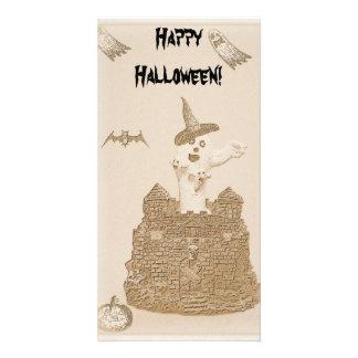 Scary Halloween Bookmark Customized Photo Card