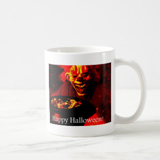 Scary Halloween Clown Design Basic White Mug