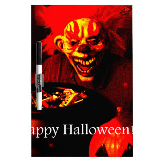 Scary Halloween Clown Design Dry-Erase Board