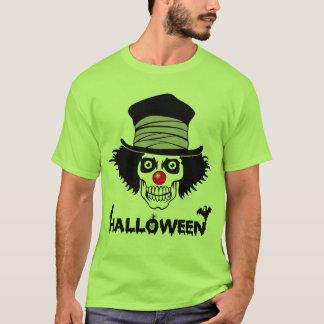 Scary Halloween Creepy Clown Skull T-Shirt