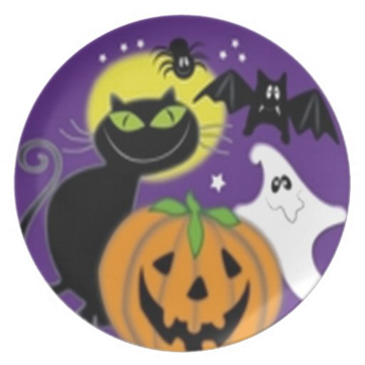 Scary Halloween design Party Plate