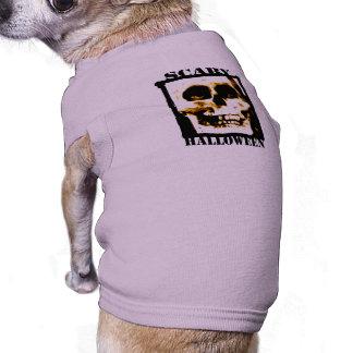 Scary Halloween Dog Tshirt