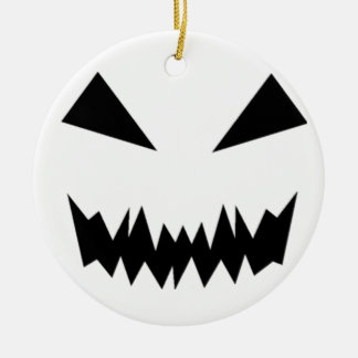 Scary Halloween Face Round Ceramic Decoration
