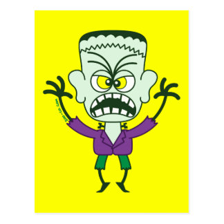 Scary Halloween Frankenstein Emoticon Postcard