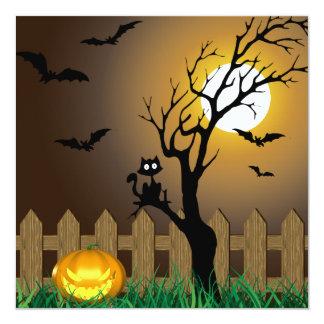 Scary Halloween Garden Scene - Invitation Card