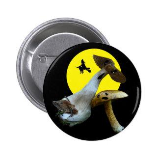 Scary Halloween Mushrooms Buttom 6 Cm Round Badge