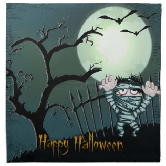Scary Halloween Napkin
