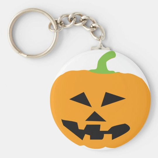 scary halloween pumpkin basic round button key ring