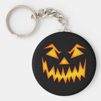 Scary Halloween Pumpkin Basic Round Button Key Ring