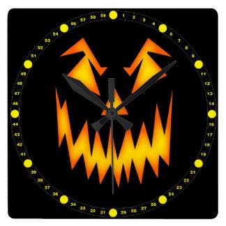 Scary Halloween Pumpkin Wallclock