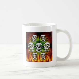 Scary Halloween Skulls Basic White Mug