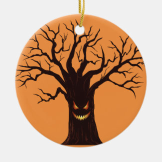 Scary Halloween Tree Christmas Ornament