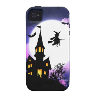 Scary Haunted House  Happy Halloween Case-Mate iPhone 4 Cases