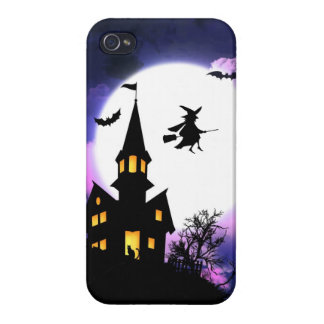 Scary Haunted House  Happy Halloween Covers For iPhone 4
