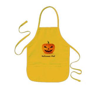 Scary Jack O Lantern Halloween Pumpkin Kids Apron