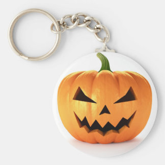 Scary Jack O Lantern Halloween Pumpkin Key Ring