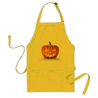 Scary Jack O Lantern Halloween Pumpkin With Candle Standard Apron