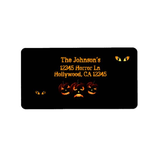 Scary Jack o'lantern and eyes address labels