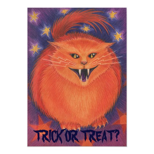 Scary Jack 'Trick or Treat?' party invitation