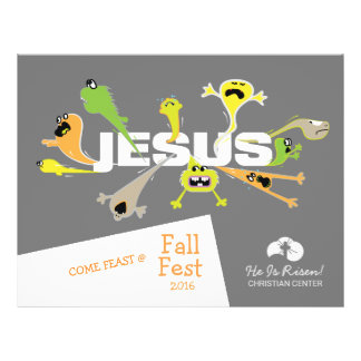 Scary Jesus 21.5 Cm X 28 Cm Flyer