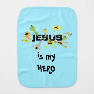 Scary Jesus Burp Cloth