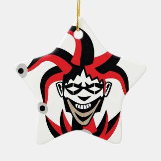 Scary joker design ceramic star decoration
