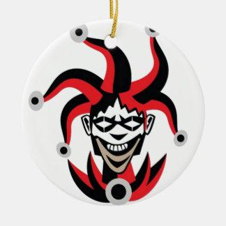 Scary joker design round ceramic decoration