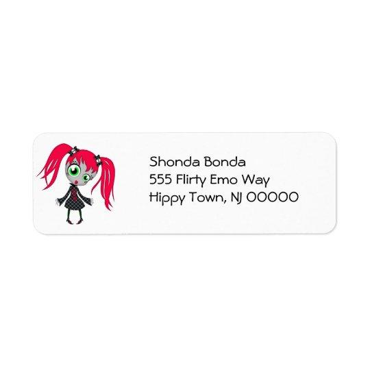 Scary Little Creepy Girl Return Address Label